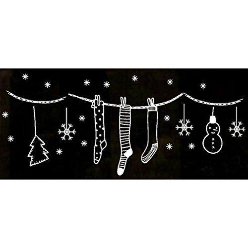 Tuscom Merry Christmas Wall Art Removable Home Vinyl Wind...
