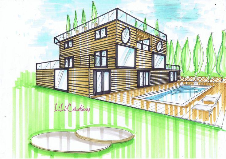 Les 25 meilleures id es concernant plot beton sur for Dessin fondation maison