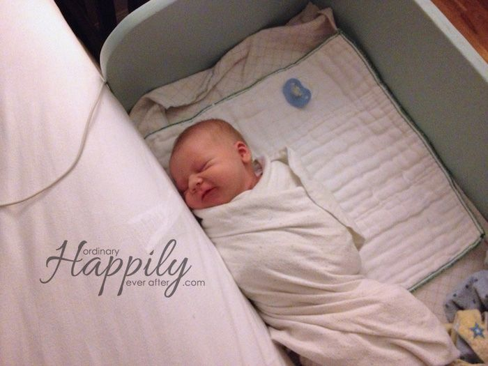 DIY Co-Sleeper (Baby boy's new bed!) - Ordinary, Happily Ever After