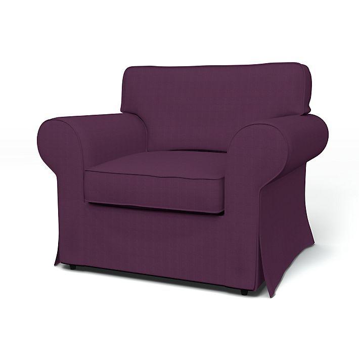Ektorp, Housses de fauteuil, Fauteuils, Regular Fit utiliser le tissu Panama Cotton Plum