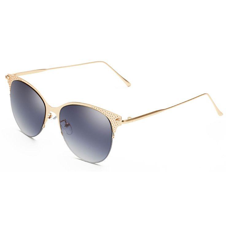 UV400 protection sunglass Metal Frame Color Film Sunglasses for ...