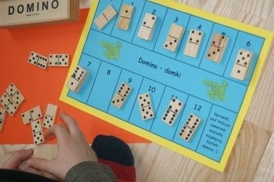 Domino domki. Nauka liczenia do 12. Domino cottages. Learning to count to 12.
