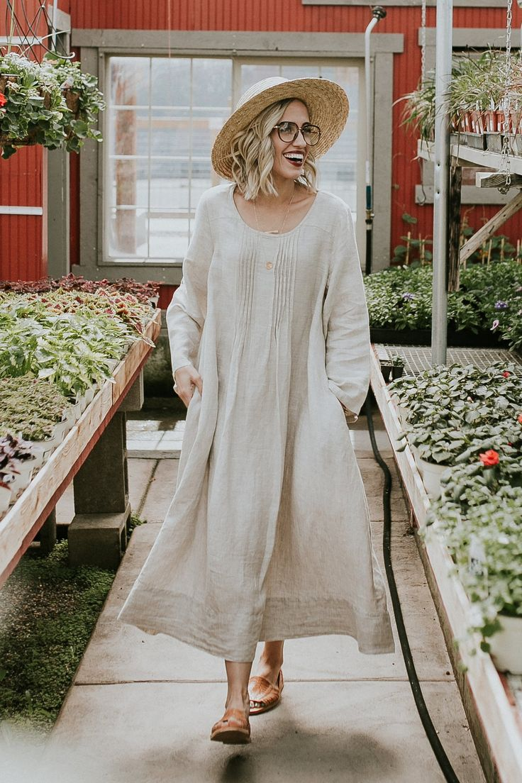 Pleated Linen Dress | ROOLEE