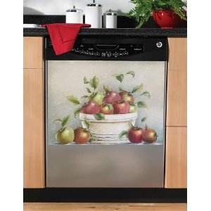 Country Red Apple Magnetic Dishwasher Cover Magnet Kitchen Decor In Home U0026  Garden, Major Appliances, Dishwashers