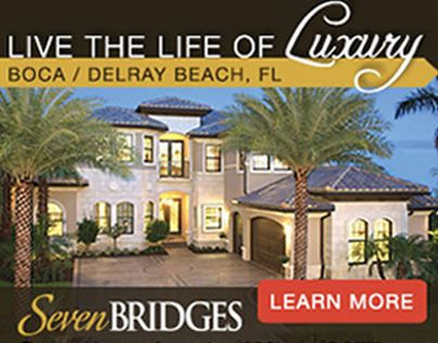 "Web banner ads - Florida Luxury Real Estate  The text helps with the sale, which the text matching the word ""Luxury"" helps make the viewer feel that way, and when you even see the typo you almost as the words in a ""Luxury"" tone."