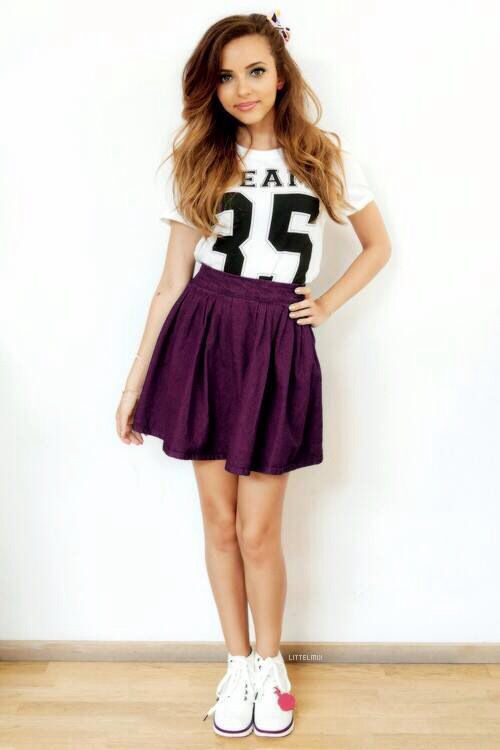 I'm in love with this cute and sporty mix of jade thirlwall *-* #fashion #cute
