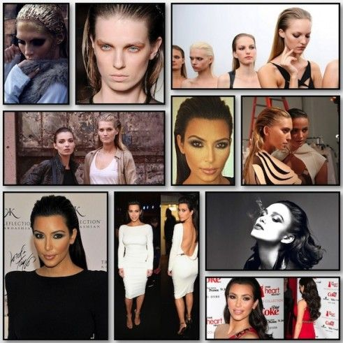 Slicked back hair how to!: Hairstyles, Beauty Tips, Hair Tutorials, Kardashians Jenners, Kim Kardashian, Hair Styles, Hair Sleek Styles, Hair Makeup, Slicked Back Hair Tutorial