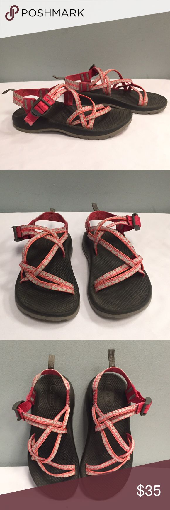 Women's Chaco Sandals, Pink, Size 5 Used, very good condition. Slight fraying on the end of the straps as pictured. Women's size 5. Will review all offers! Chaco Shoes Sandals