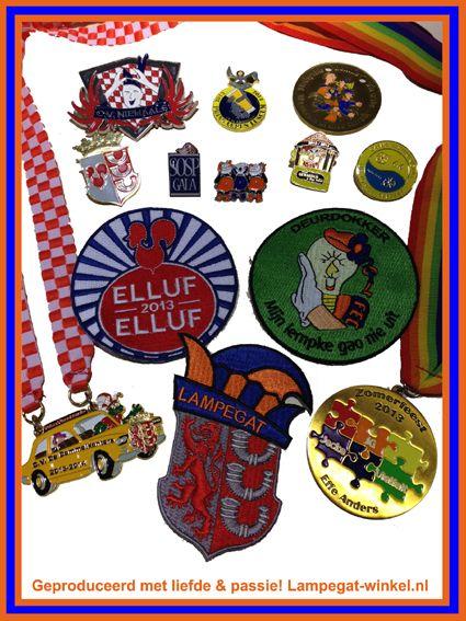 Carnaval Ook produceren wij persoonlijke onderscheidingen en/of badges voor u op maat. Kom langs voor de mogelijkheden of vraag vrijblijvend een offerte aan.