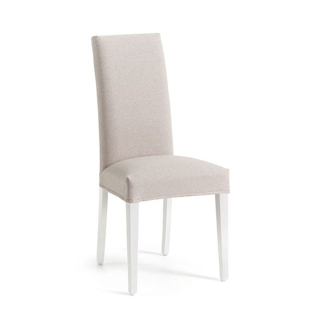 Chaise Freda Beige Et Blanc Kave Home Chaise Rembourre Avec Tissu