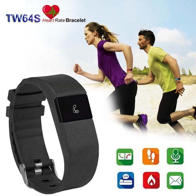 Bluetooth Фитнес-Деятельность Трекер Сердечного ритма + Sleep Monitor Браслет Черный Цвет дешевые смарт часы шагомер браслет APE