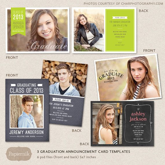 281 Best Senior Announcement Templates Images On Pinterest