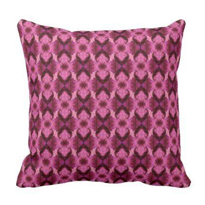 Pink Damask Hearts Throw Pillow - home gifts cool custom diy cyo