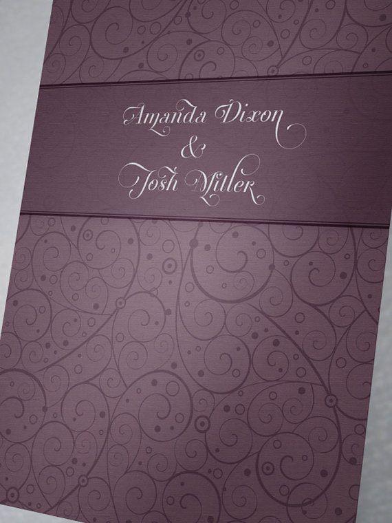 DIY Wedding Stationery Template Set Invitation by BudapestWP, $9.00