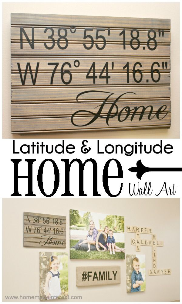 Home. Made. Interest. | Latitude and Longitude {HOME} Wall Art | http://www.homemadeinterest.com