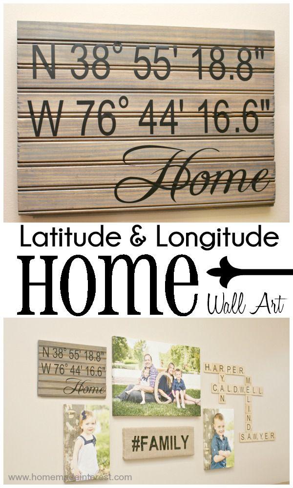 Home. Made. Interest. | Latitude and Longitude {HOME} Wall Art | http://www.homemadeinterest.com