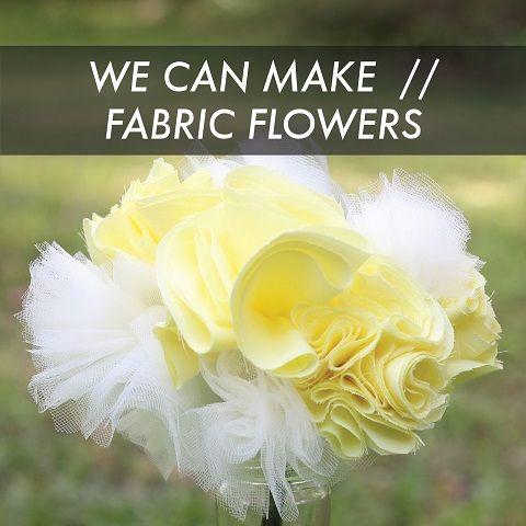 Como hacer flores de tela y tul paso a paso (1)