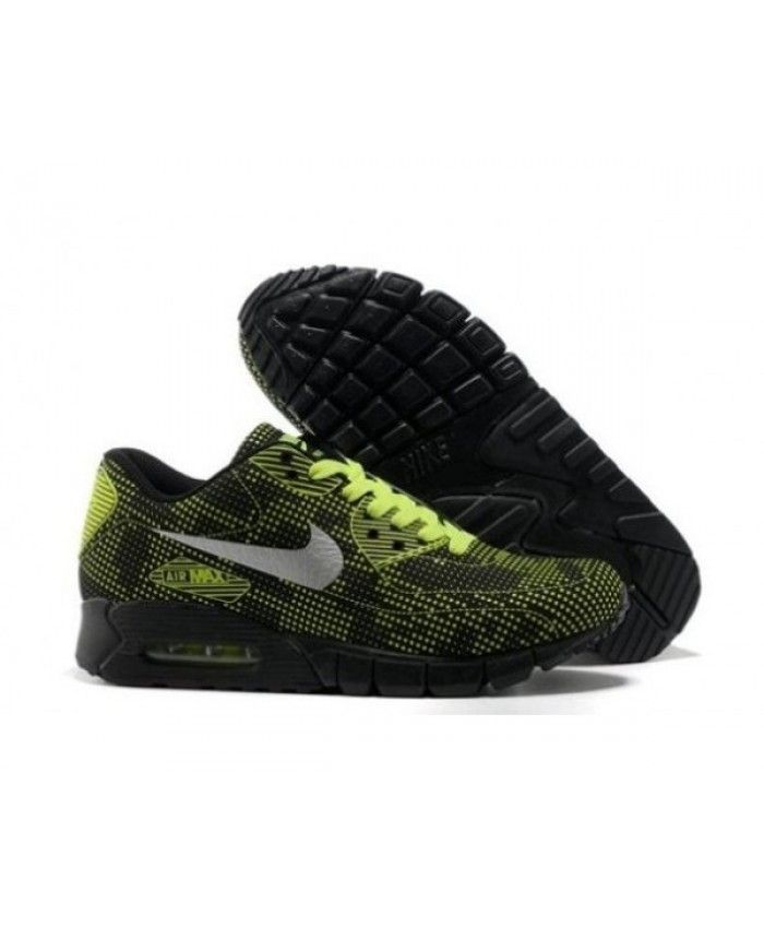new design release date: for whole family Mens Nike Air Max 90 Carved Black Green 6809331-447
