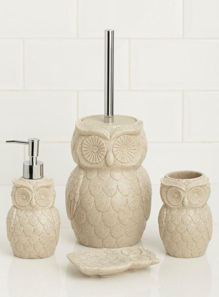 Photo 2 Of Natural Owl Shaped Soap Dispenser. Vintage OwlBath AccessoriesSoap  ...