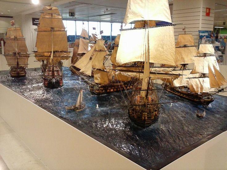 Diorama Barcos Santisima Trinidad Batalla Trafalgar 3
