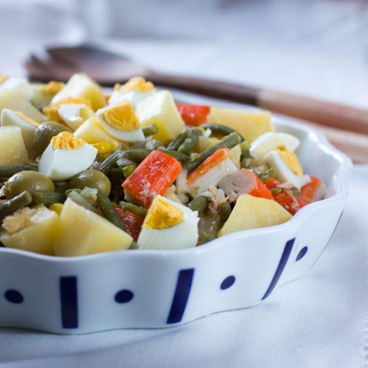 Ensalada templada de judias verdes, patatas y atun Thermomix