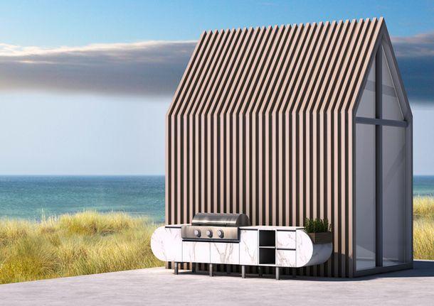 Дизайнерская кухня на открытом воздухе
