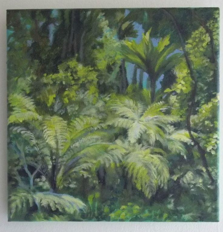 Arataki rainforest, NZ acrylic on canvas