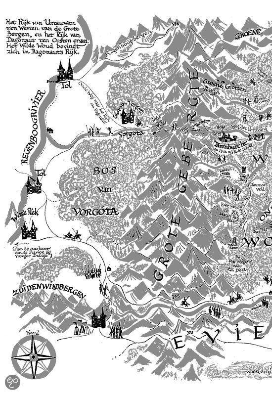 Landkaart de brief voor de koning