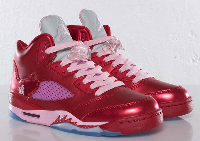 premium selection 95e5d 8ea68 usa jordan 5 valentine red pink 0458f 79606