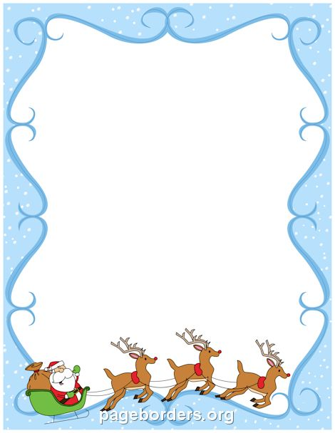 Printable reindeer border. Use the border in Microsoft Word or other programs for creating flyers, invitations, and other printables. Free GIF, JPG, PDF, and PNG downloads at http://pageborders.org/download/reindeer-border/