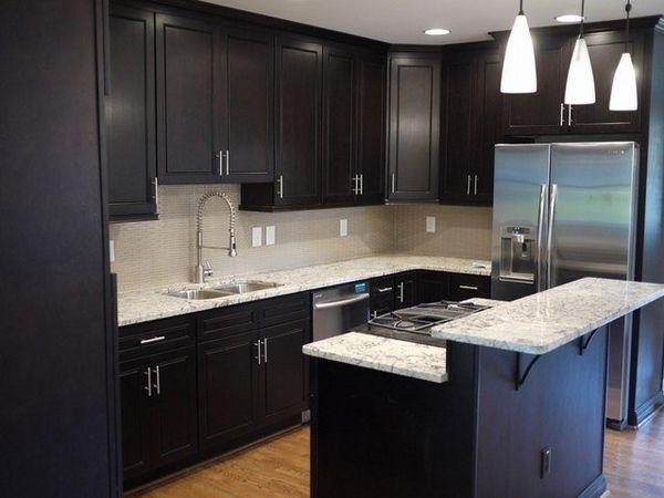 kitchen renovations how to restain cabinets black finish granite countertops pendant lamps