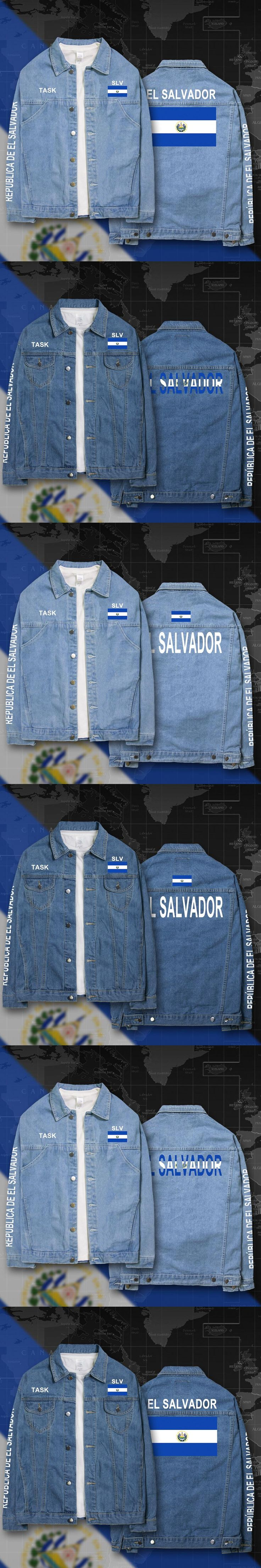 El Salvador Salvadoran SLV denim jackets men coat men's suits jeans jacket thin jaquetas 2017 sunscreen autumn spring nation fla