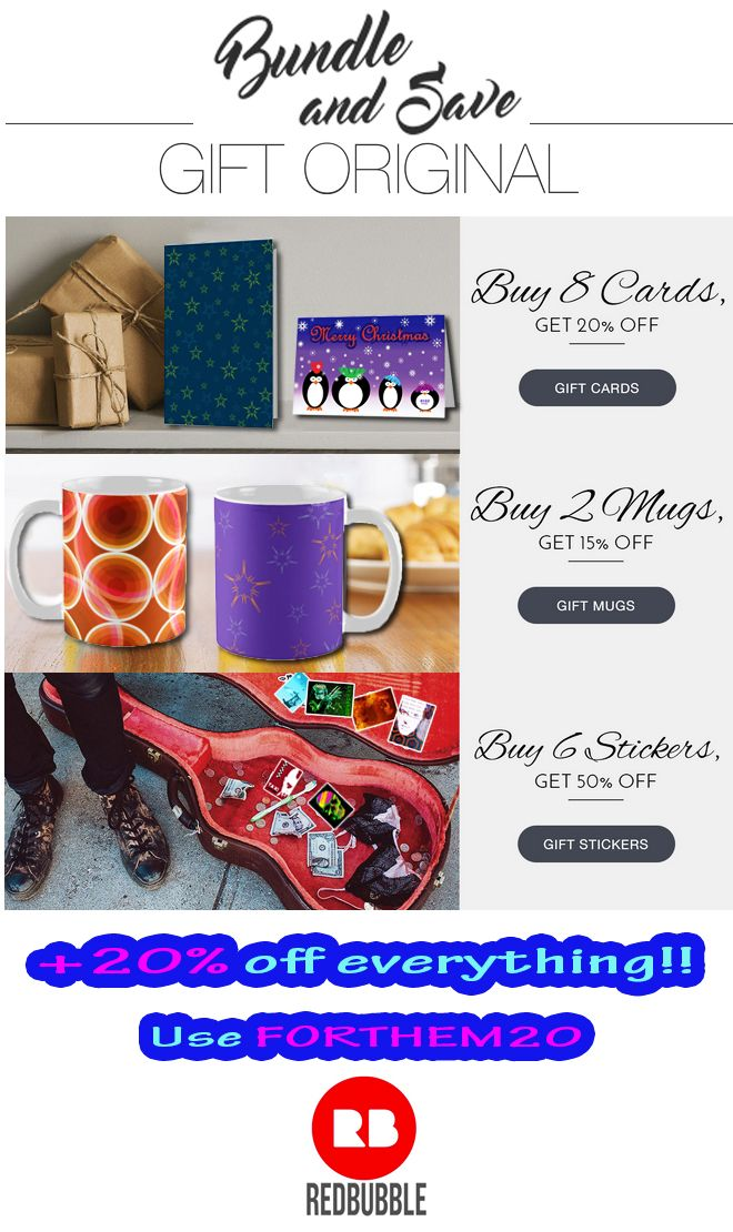Bundle and Save!! This Christmas make Original Gifts for you and your Loved Ones with dicount on all products!!!    #sales #discount #bundleandsave #save #discountgifts #XmasGifts #getdiscount #onlineshopping #redbubble #scardesign #ChristmasGifts #Xmas #giftsforhim #giftsforher #homegifts #tshirts #dresses #BuyChristmasCards  #kidsgifts #shoponline #XmasShopping #christamsShopping #XmasGiftList #giftlist #MerryChristmas #HoHoHo #ChristmasDiscount #ChristmasSales #XmasCards #buygifts