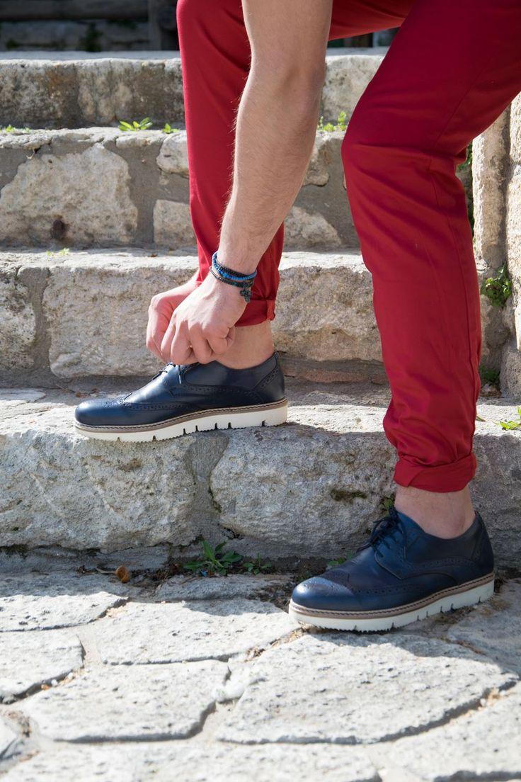 Men Blue Oxford Shoes   Men Shoes / Spring Summer 2016 / Men Collection Luigi Footwear