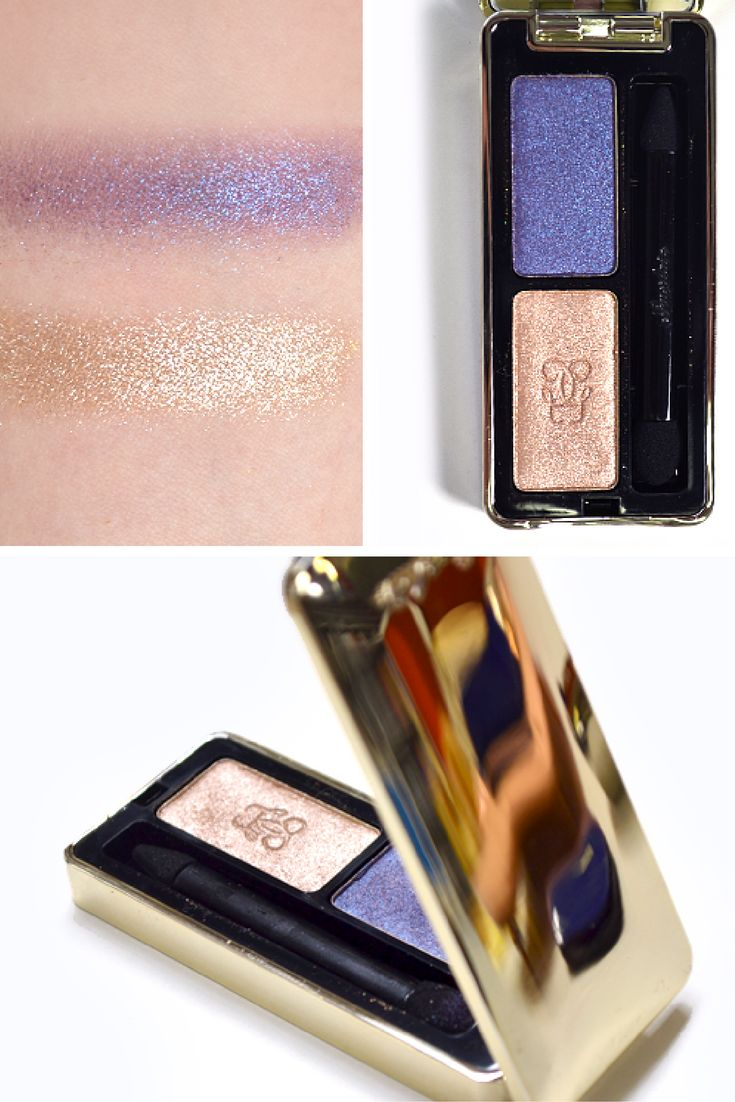 Guerlain Ecrin Shalimar Eyeshadow in Gold and Sapphire   Shalimar Christmas Makeup Look 2016