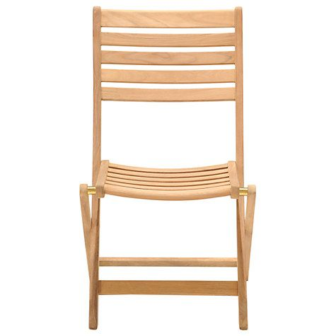 Buy John Lewis Longstock Folding Garden Chair, FSC-Certified (Teak), Natural Online at johnlewis.com