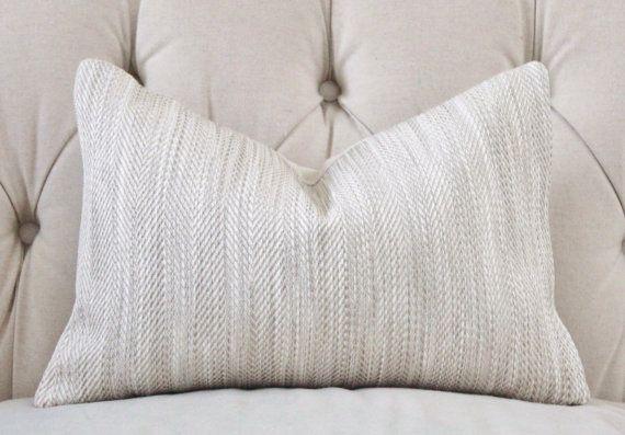 Gray Beige Heringbone Pillow - Neutral Pillow Cover - Neutral Stone Throw Pillow - Modern Home Decor - Geometric Greige Pillow