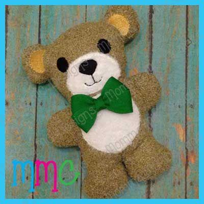 Teddy Bear Softie Memory Bears In The Hoop