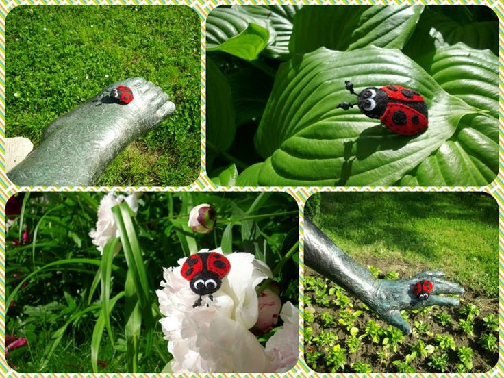 Handmade felt sew brooch Ladybug.