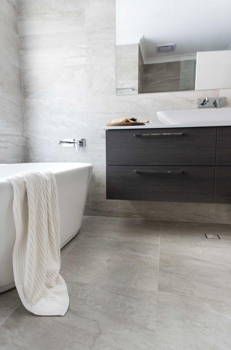 Allways cabin contemporary bathroom perth by ceramo tiles - Red Lily Renovations Perth 1200x300 Porcelain Tiles Petite Bath By Reece Bathrooms