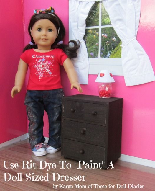 Create A Doll Sized Dresser With Lined Drawers For Your Dolls — Doll Diaries...dresser from michaels