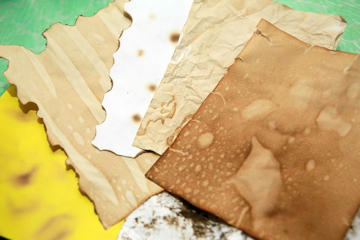Old paper has a mysterious charm. Here are several methods for making common paper appear artfully antique and damaged. Pick a solvent. To age your paper, you can soak it in coffee (darker color), tea (medium color) or orange juice (light...