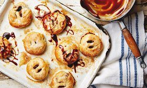 Thomasina Miers' apple eccles cakes with apple caramel.