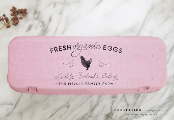 Custom Chicken Stamp - Large Egg Carton Label - Farm Stamp - Fresh Eggs Stamp - Chicken Coop Stamp - Packaging - Homestead - Farm Stand