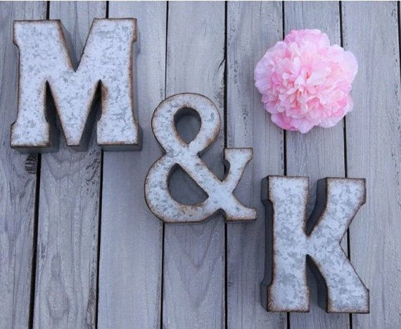 Metal Letter- Galvanized Wall Letter - Small Metal Letters - Rustic Decor - Distressed Letters - Industrial Letters
