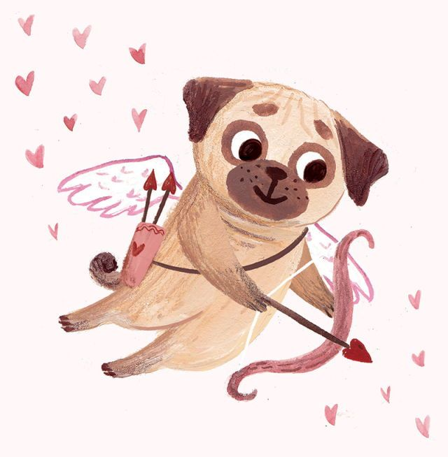 Haven't you heard of the Cupid Pug?! - Tap the pin for the most adorable pawtastic fur baby apparel! You'll love the dog clothes and cat clothes! <3