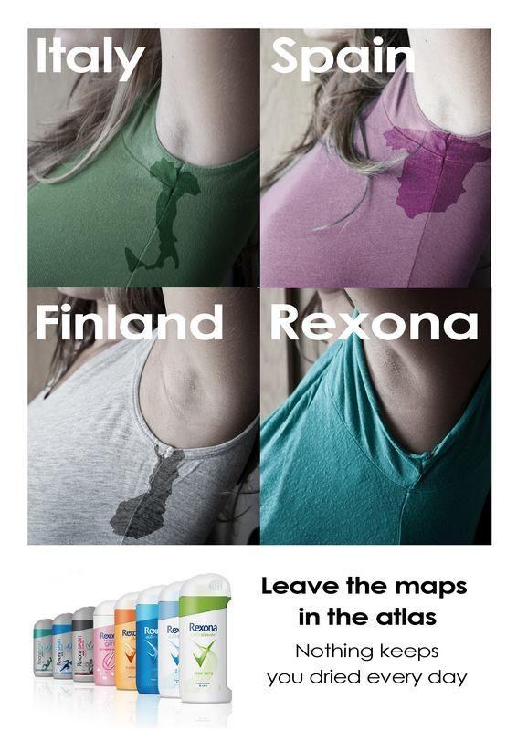 Rexona Ad, Leave the maps in the atlas | Repinned by www.BlickeDeeler.de