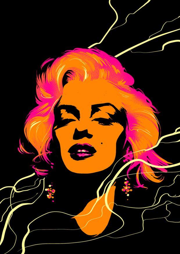 15 Artist Tributes to Marilyn Monroe #graphicdesign #art #illustration #MarilynMonroe