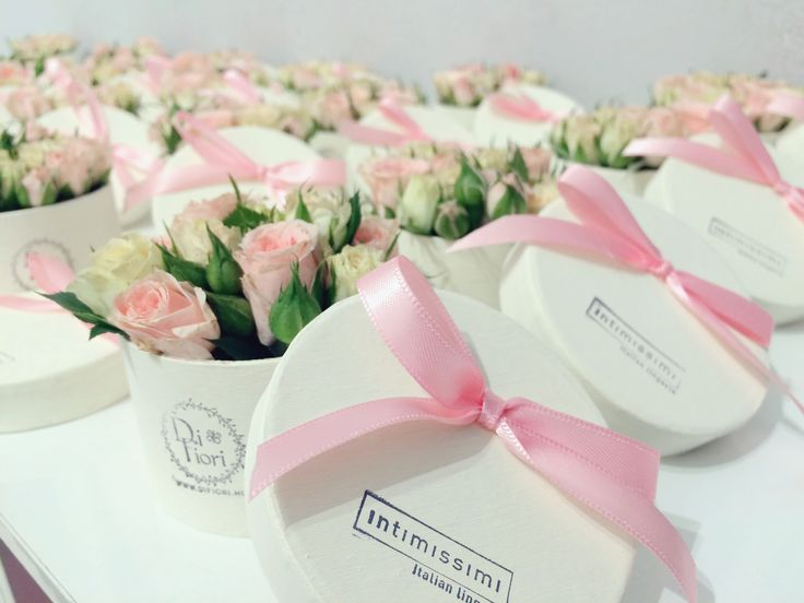 Flower boxes by DIFIORI made for Intimissimi