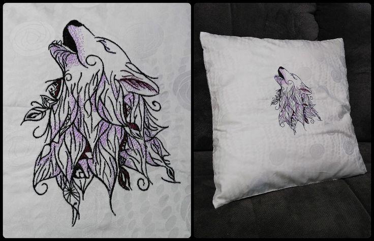 wolf embroidered pillow fb: ka.bela boutique